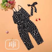 Heart Pattern Girls Jumpsuit   Children's Clothing for sale in Ondo State, Akure