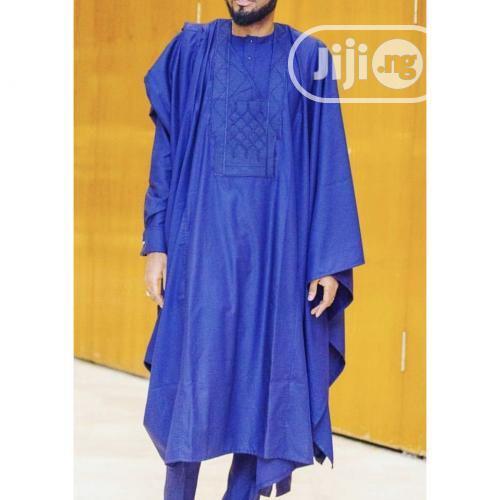 Men Agbada Native- Royal Blue