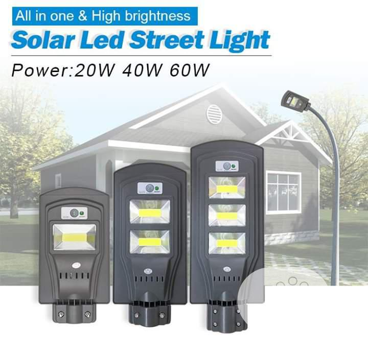 All In One 100w To 90wsolar Street Light With Sensors