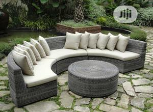 Intricate Rattan-woven Outdoor Curved Sofa Set | Furniture for sale in Lagos State, Ikeja