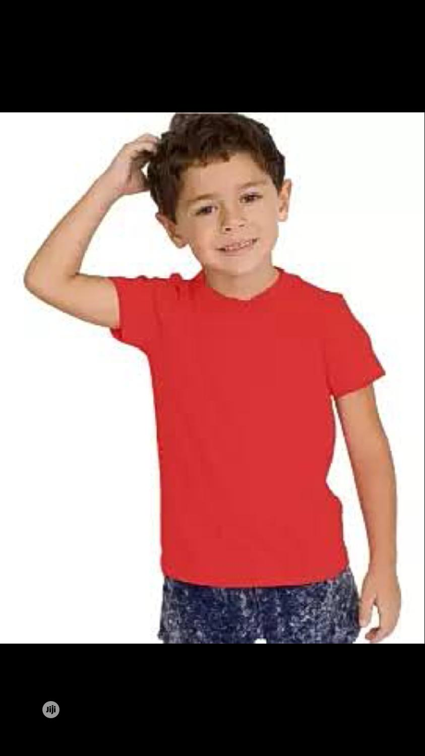 Plain T-shirt For Children Wholesale Price | Children's Clothing for sale in Surulere, Lagos State, Nigeria