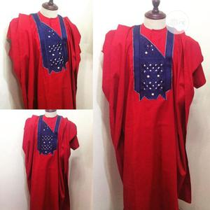 Men Agbada Native- Red With Embroidery | Clothing for sale in Lagos State, Ojodu