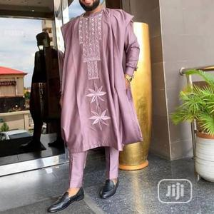 Men Agbada Native With Matching Embroidery | Clothing for sale in Lagos State, Ojodu