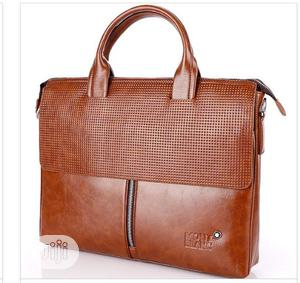 Mont Blanc Officials Pure Leather Bag Available as Seen Order Yours | Bags for sale in Lagos State, Lagos Island (Eko)