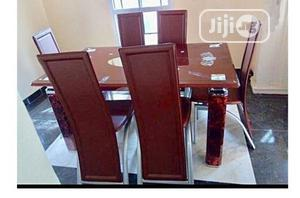 Quality Strong Six Seater Tinted Glass Dining Table | Furniture for sale in Lagos State, Badagry