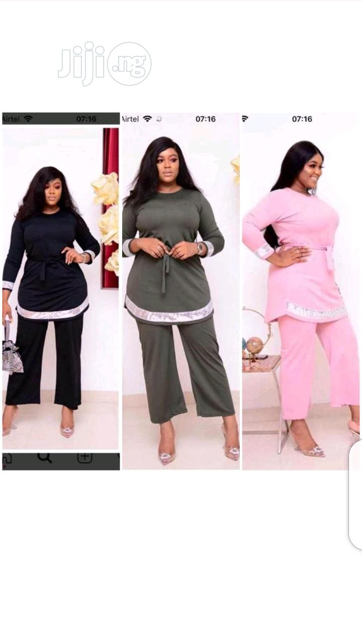 Ladies Parazzo Trouser Anf Longsleeve Top | Clothing for sale in Ikeja, Lagos State, Nigeria