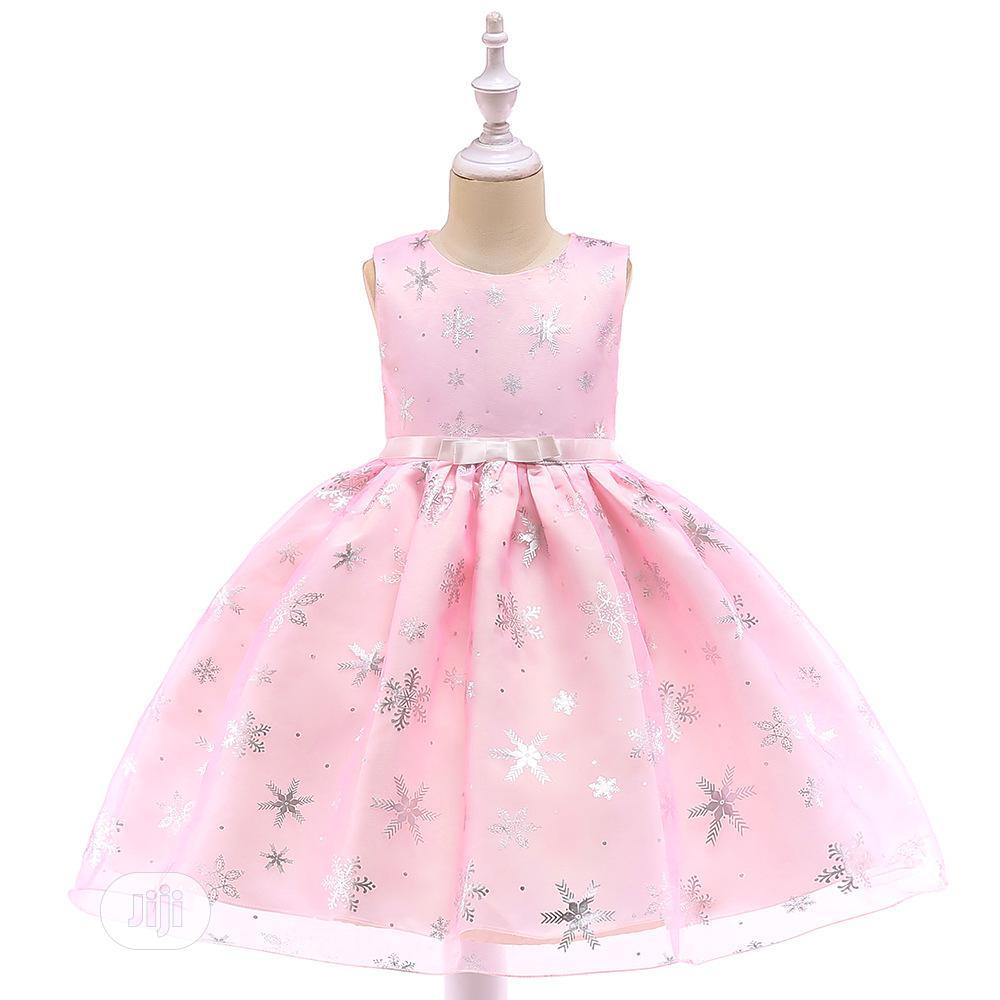Girls Pink Sparkle Dress