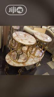 Marble Top Centre Table And Side Stools | Furniture for sale in Lagos State, Ojo