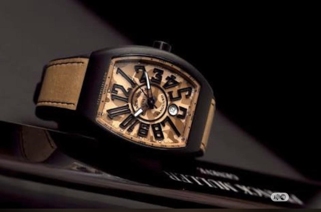 Archive: Franck Muller Brown Camouflage Wristwatch / Wrist Watch