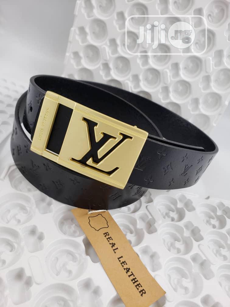 Archive: Original Louis Vuitton Leather Belt Collections
