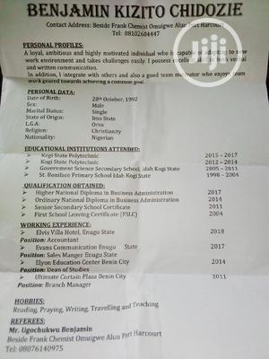 Application For Job. | Management CVs for sale in Rivers State, Port-Harcourt