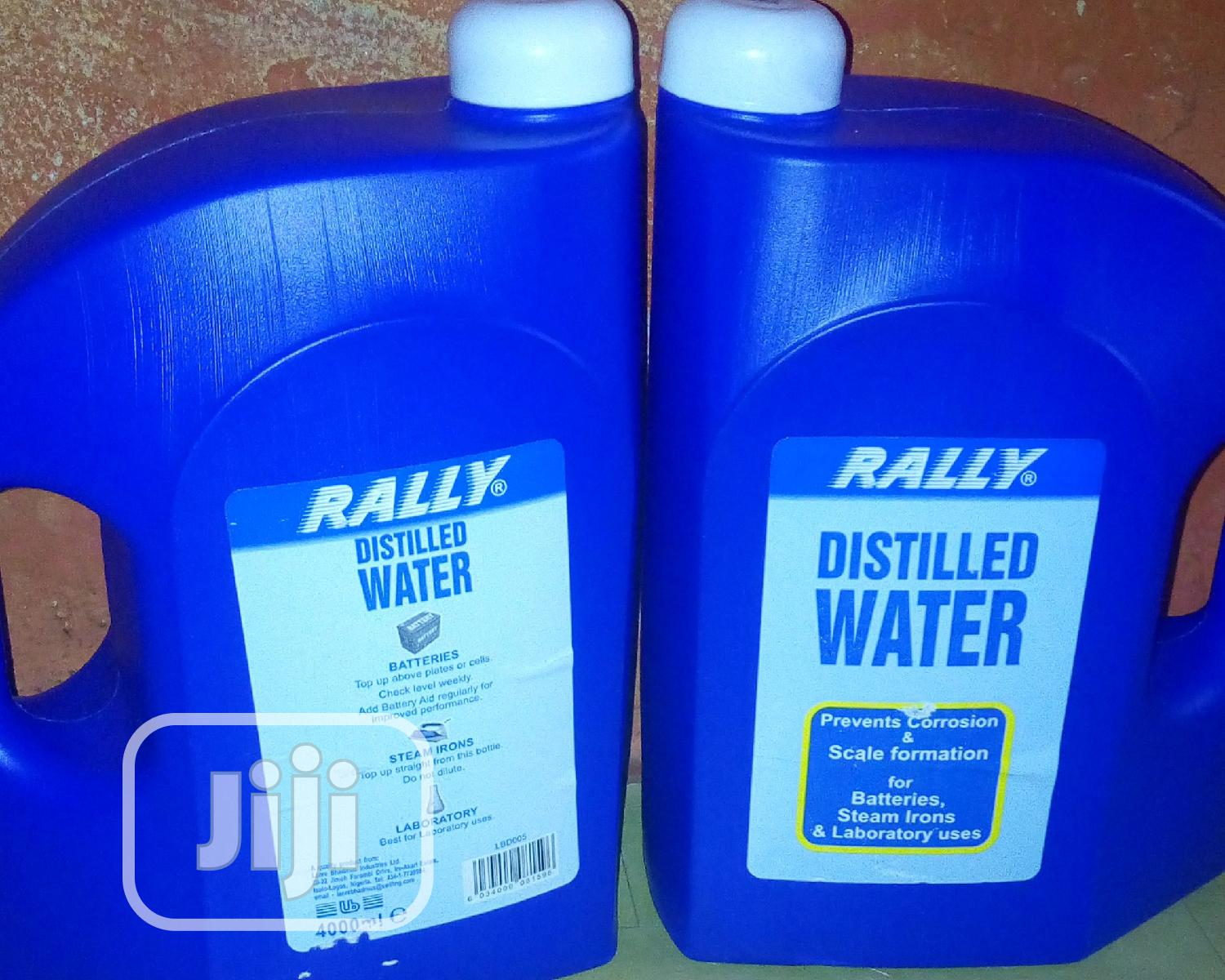 Rally Distilled Water For Tubular Battery,Laboratory Use | Manufacturing Materials for sale in Oshodi, Lagos State, Nigeria