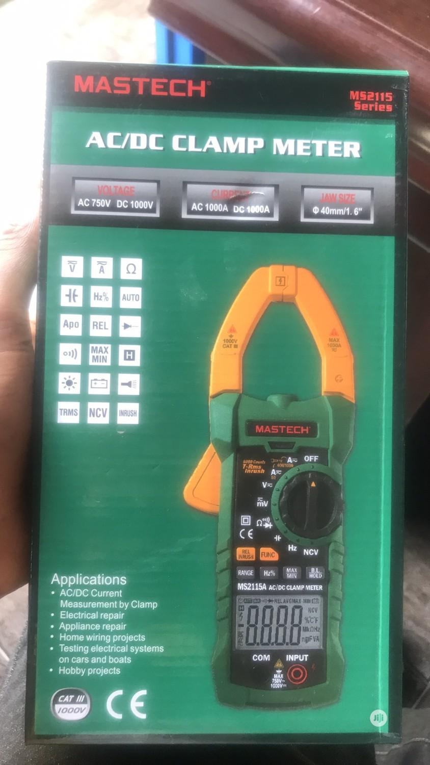 Mastech 2115A AC/DC Clamp Meter | Measuring & Layout Tools for sale in Ojo, Lagos State, Nigeria