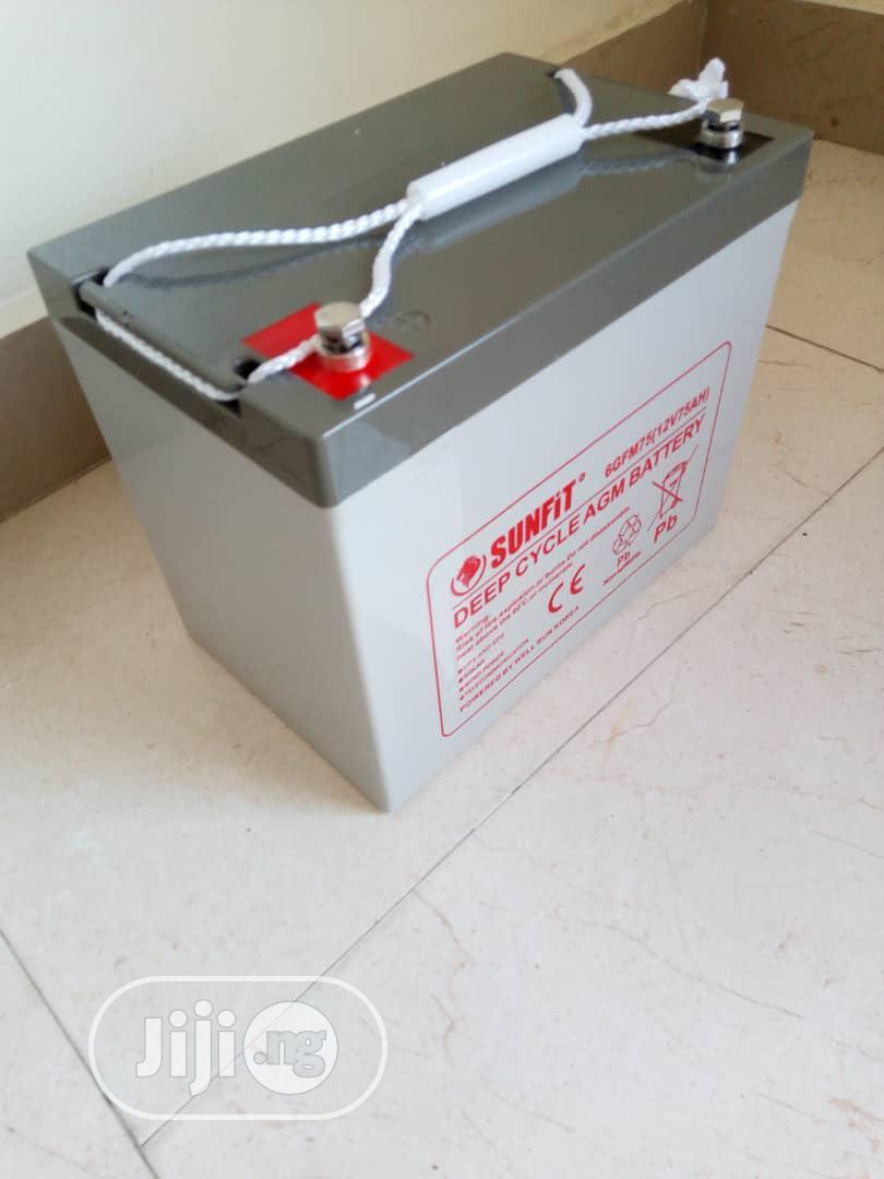 Sunfit Deep Cycle Battery 12v75ah
