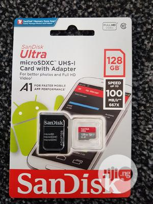 Sandisk Ultra 128gb Micro SD Card 100mbps | Accessories for Mobile Phones & Tablets for sale in Lagos State, Ikeja