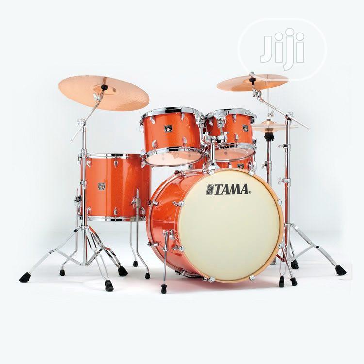 Tama Superstar Hyper-drive Bright Orange Sparkle 5-piece