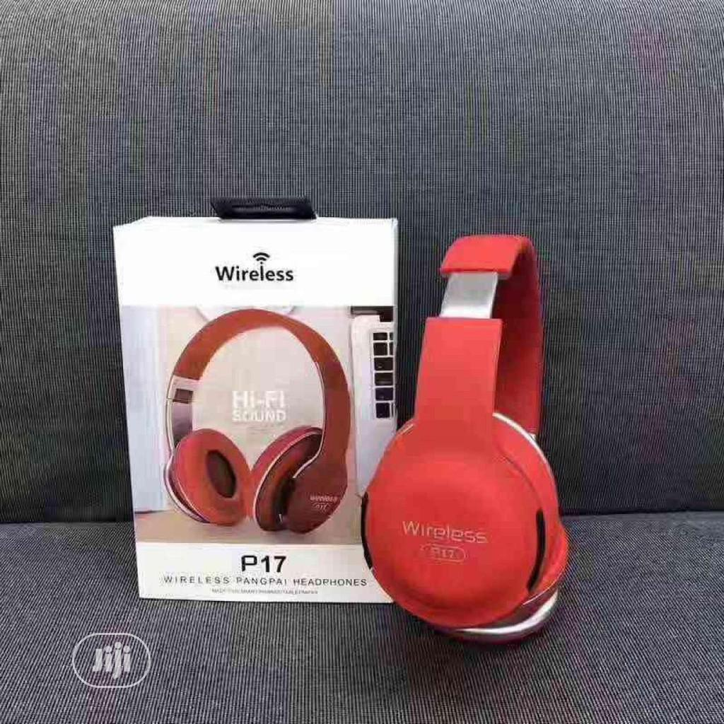 Portable Wireless Bluetooth Headphone FM Radio MP3 | Headphones for sale in Surulere, Lagos State, Nigeria