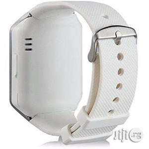 DZ09 Smart Sim Phone Watch - Silver White | Smart Watches & Trackers for sale in Lagos State, Ojo