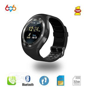 Y1 Smartwatch Gsm Sim Card With Camera | Smart Watches & Trackers for sale in Lagos State, Ikeja