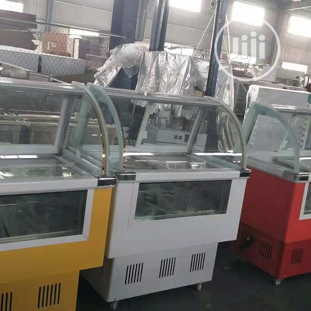 10plate Ice Cream Display Machine