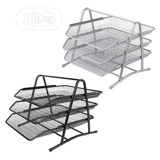 3-tier File Rack Metal Mesh Letter Tray | Stationery for sale in Amuwo-Odofin, Lagos State, Nigeria
