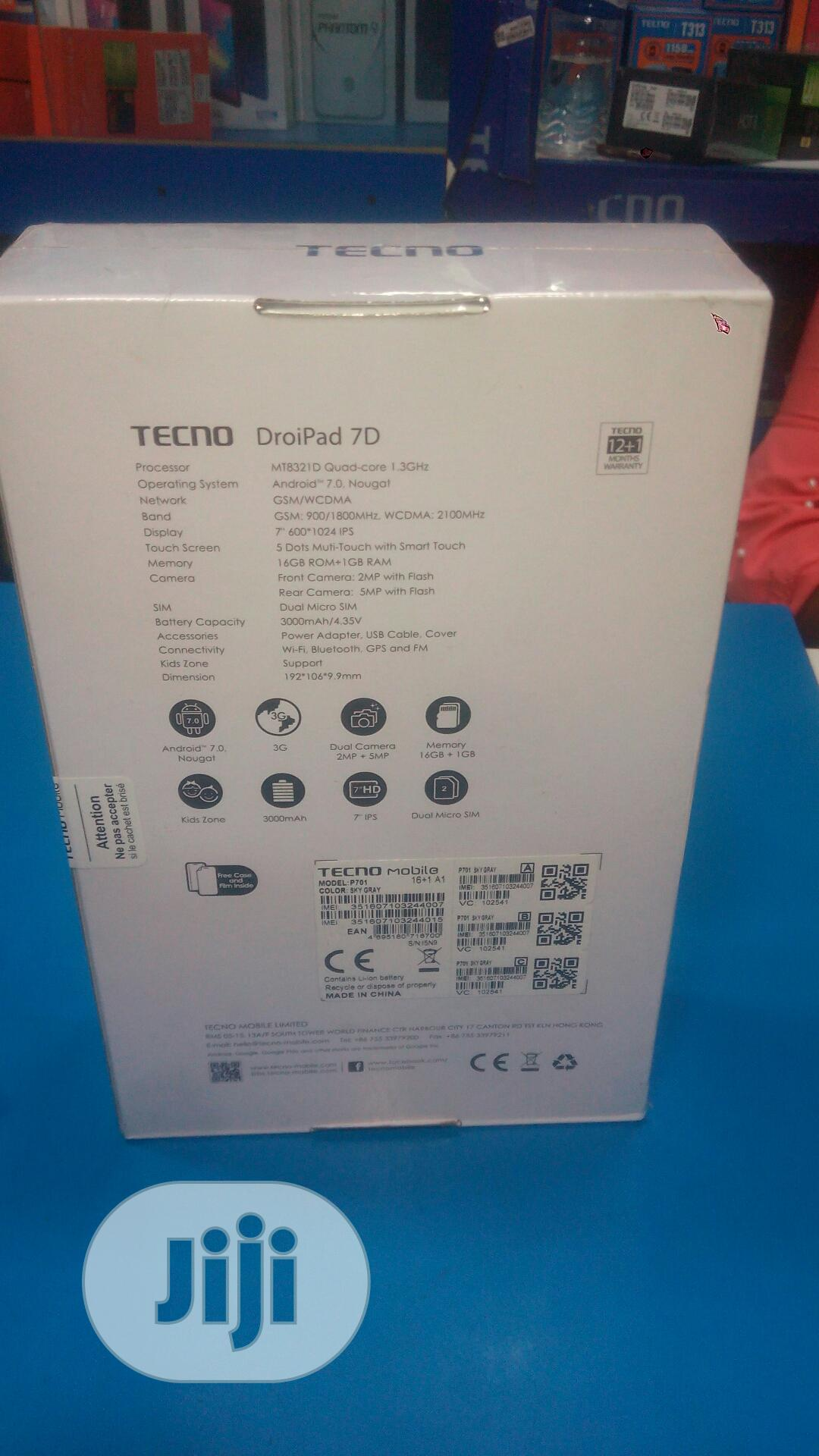 New Tecno DroiPad 7D 16 GB Gray