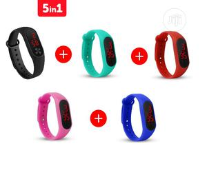 Fashion Silicone Bracelet Sport Digital LED Unisex Watch (5 Colors)   Watches for sale in Lagos State, Mushin