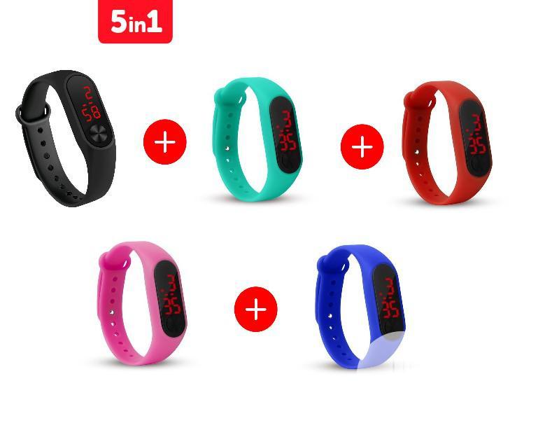 Fashion Silicone Bracelet Sport Digital LED Unisex Watch (5 Colors)