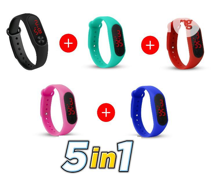 Fashion Silicone Bracelet Sport Digital LED Unisex Watch (5 Colors)   Watches for sale in Mushin, Lagos State, Nigeria