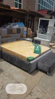 6by6 Bed Frame Wt Imported Spring Mattress | Furniture for sale in Lagos State, Ojo