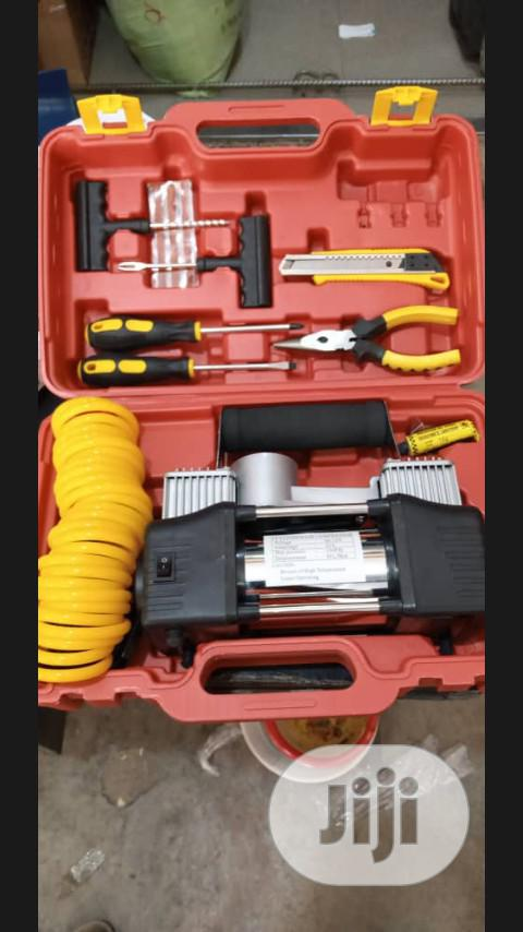 Tyre Pump With Tool Box