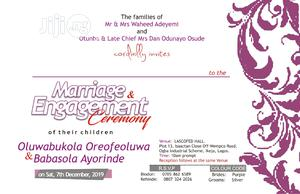 Customised Wedding Invitation Card | Wedding Venues & Services for sale in Lagos State, Alimosho