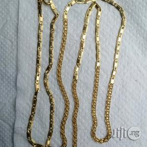 Tested 18karat Gold Necklace Mixed Carpet And Blade Design   Jewelry for sale in Lagos State, Lagos Island (Eko)
