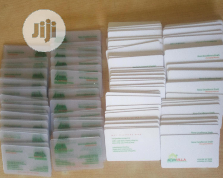 Archive: Transparent Business Cards