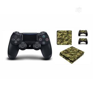 Sony PS4 Pad Wireless Controller - Black + Free Green Camo   Accessories & Supplies for Electronics for sale in Lagos State, Ikeja