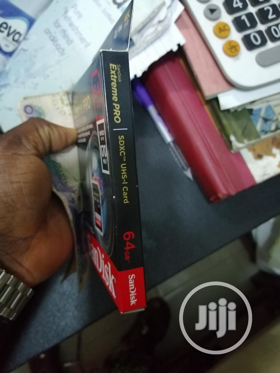 Sandisk Extreme Pro 64gb Sdxc Uhs-1 170mb/S | Photo & Video Cameras for sale in Ikeja, Lagos State, Nigeria
