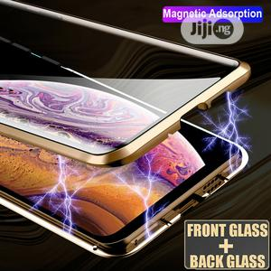 360° Double Glass Magnetic Adsorption Case for iPhone 11 Pro Max   Accessories for Mobile Phones & Tablets for sale in Lagos State, Ikeja