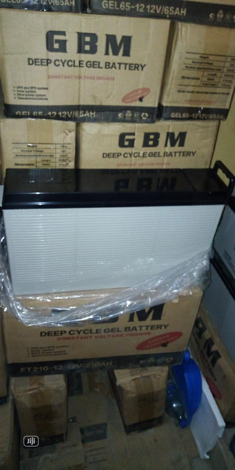 210ah 12volts GBM Slim Battery | Solar Energy for sale in Ojo, Lagos State, Nigeria