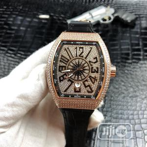 Franck Muller Full Ice Rose Gold Leather Strap Watch | Watches for sale in Lagos State, Lagos Island (Eko)