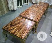Quality Strong Marble Center Table With Two Sides Stools | Furniture for sale in Kaduna State, Kaduna