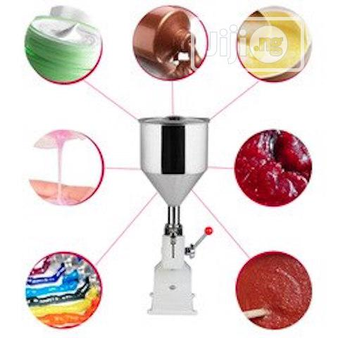 Manual Bottle Filling Machine For Cream Cosmetics Lotion Liquid Paste