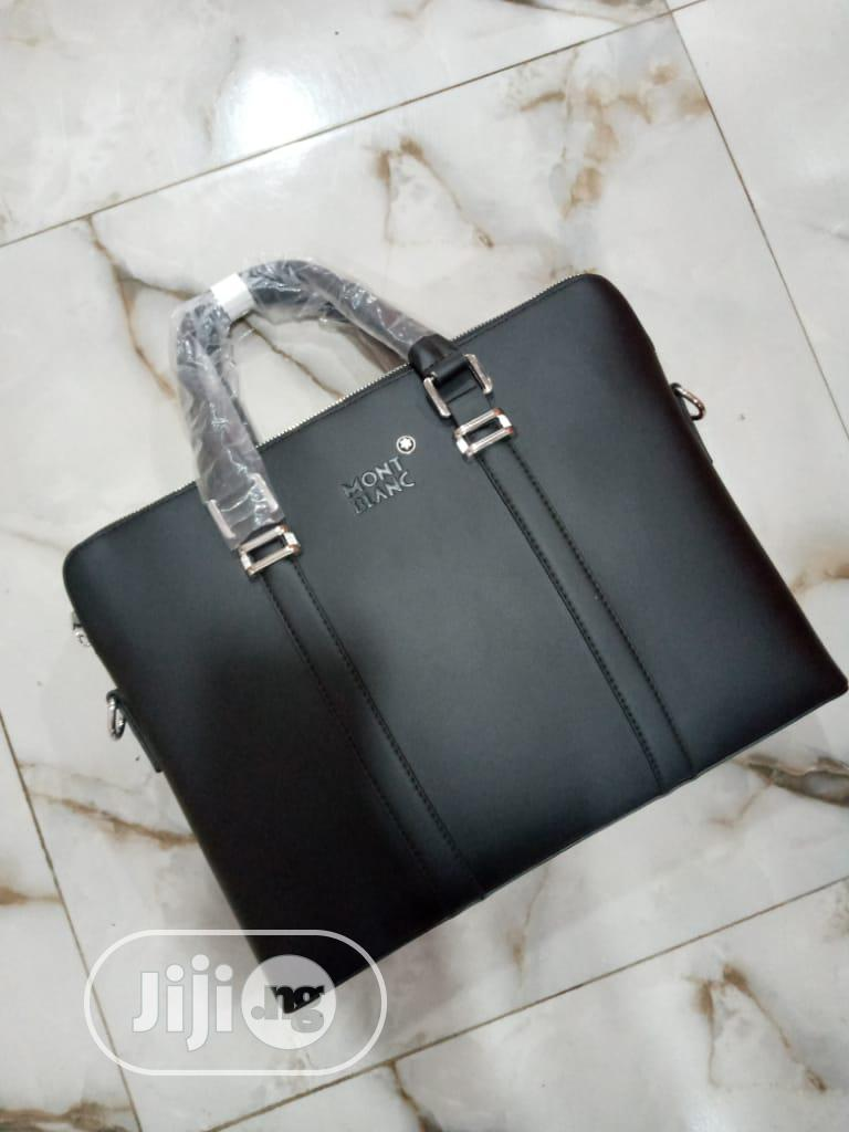 Mont Blac Leather Briefcase