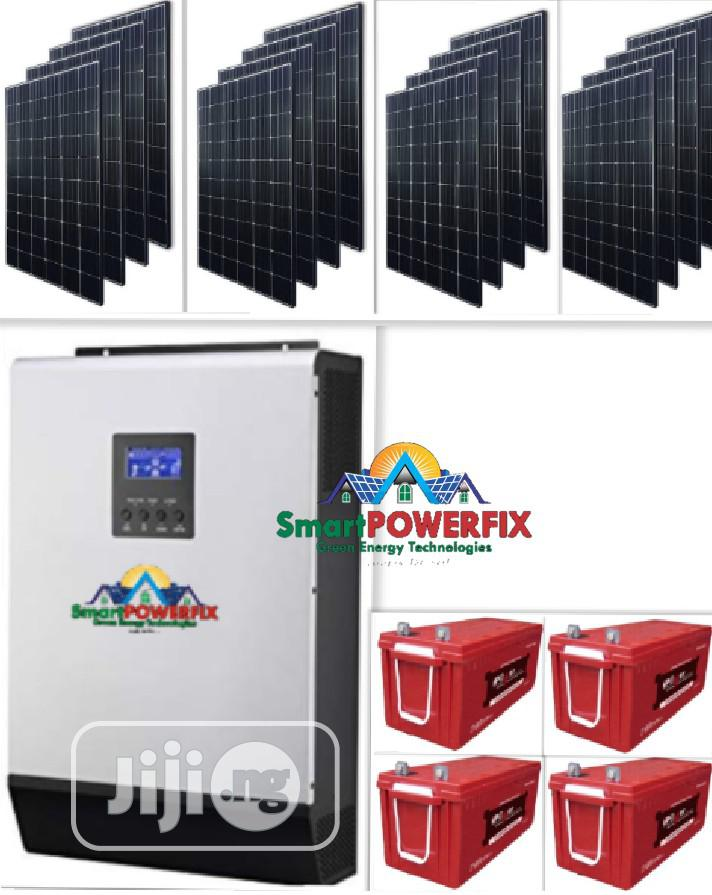 5kva Solar Powered Inverter Installation With For Filling Stations,Etc