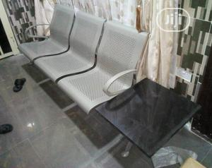 Quality Strong Airport Chair With Marble Side Stool   Furniture for sale in Lagos State, Badagry