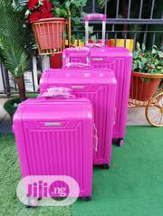 Fashionable 3 In 1 Pinky ABS Trolley Luggage | Bags for sale in Kwara State, Ifelodun-Kwara