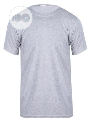 CSN Round Neck Gray Plain T Shirt   Clothing for sale in Lagos State, Surulere