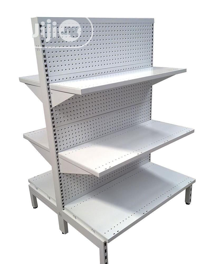 High Quality Single Sided Perforated Shelving Supermarket Display