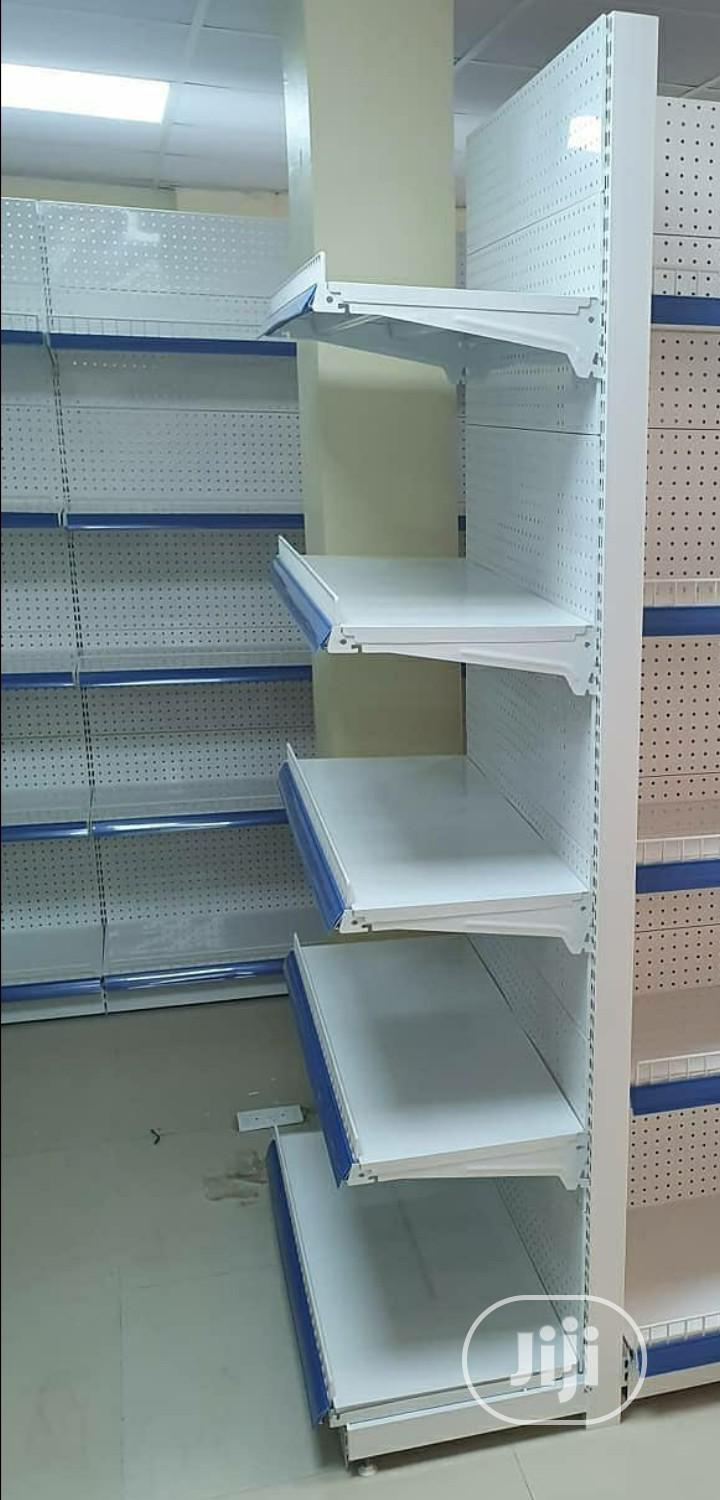 High Quality Single Sided Perforated Shelving Supermarket Display | Store Equipment for sale in Jabi, Abuja (FCT) State, Nigeria