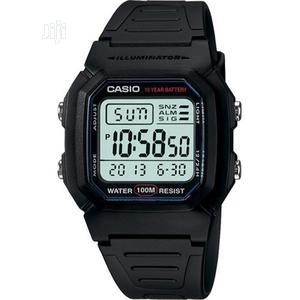 Casio W800H-1AV Men's Classic Sport Black Band Small Watch   Watches for sale in Lagos State
