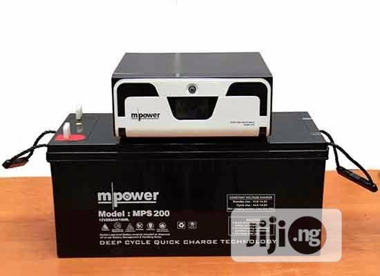 Mpower 1.2kva 12v Complete Solar Kit With 200amps Batteries